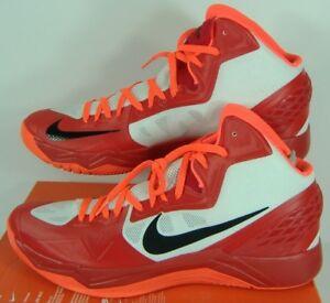 3b20c2186692 Mens 17 NIKE Zoom HyperDisruptor Red White Orange High Hi Top Shoes ...