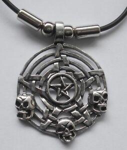 Fashion Pentagram Star Celtic Knot Pewter Silver Pendant Choker Necklace