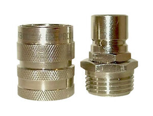 Image Is Loading High Flow Garden Hose Quick Connector Coupler Coupling