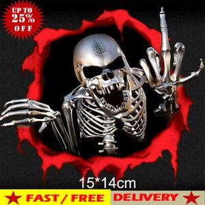 3D-Metal-Skeleton-Skull-Car-Motorcycle-Side-Trunk-Emblem-Badge-Decal-Sticker-New
