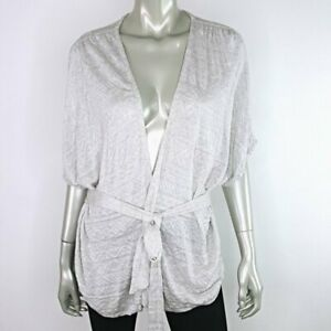Moth-Anthropologie-Grey-Cardigan-Sweater-Size-Large-Lightweight-Dolman-Sleeve
