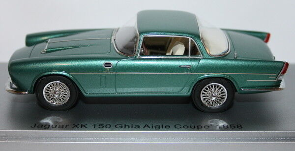 Kess 1 43 Scale Resin KE43029000 - 1958 Jaguar XK150 Ghia Aigle Coupe Green Met