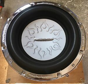 New-Old-School-Audiobahn-AW1206Q-12-034-Dual-4-Ohm-Flame-Subwoofer-Rare-W-Grill