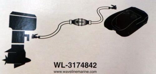 J84 Quality Waveline OMC Johnson Evinrude Fuel Line and Bulb