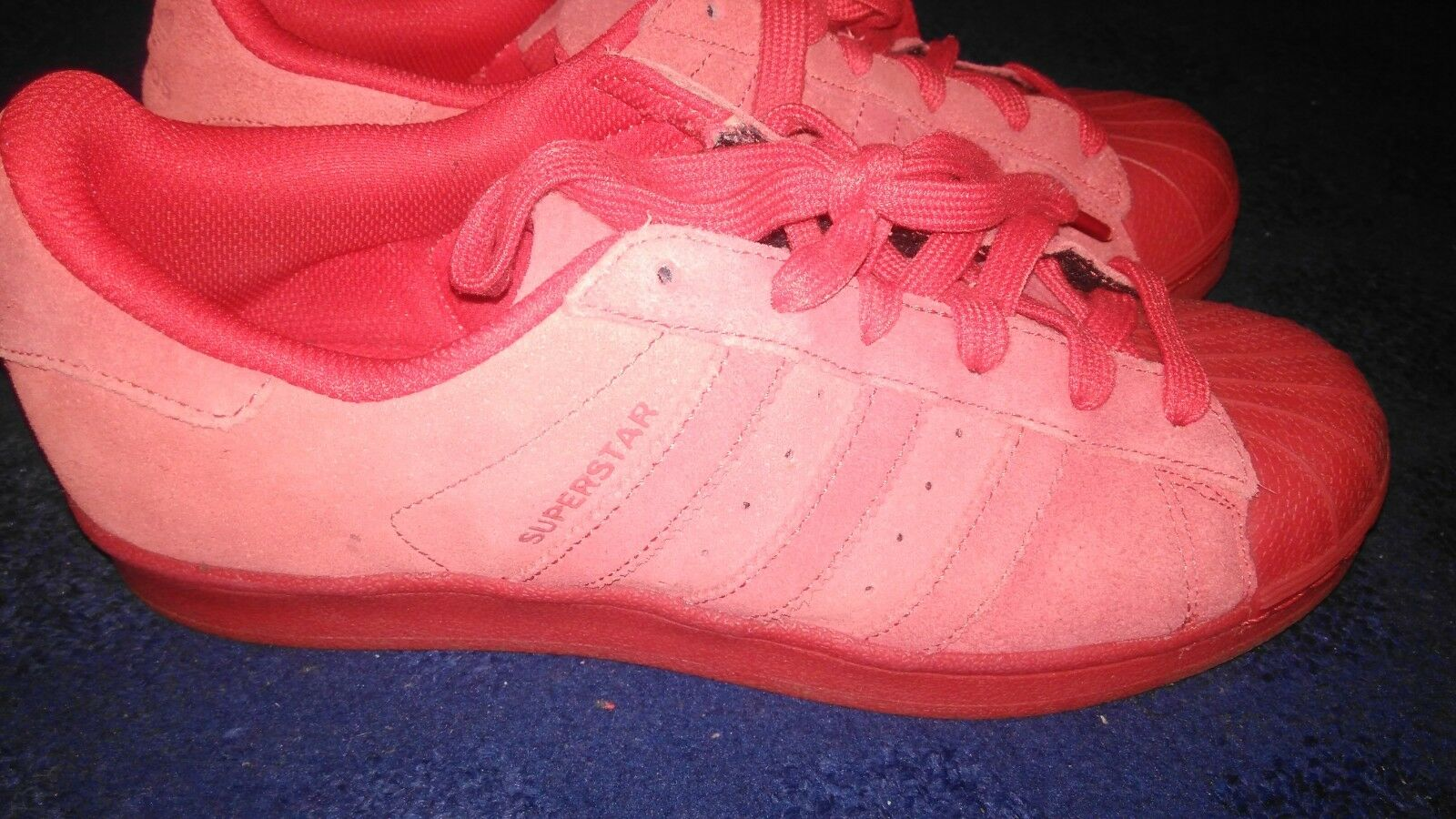 Adidas Red Superstar Men Trainer Size Uk 6 - Eur 39.5