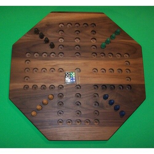 THE PUZZLE-MAN TOYS W-1933 Wooden Marble Game Board - Aggravation - 18 in. Oc...