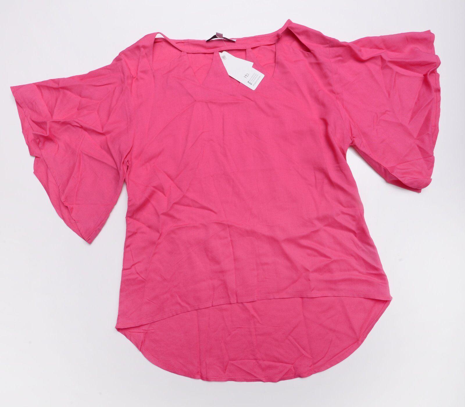 HARVE BENARD Womens BLOUSE SHIRT Size Small Pink NWT