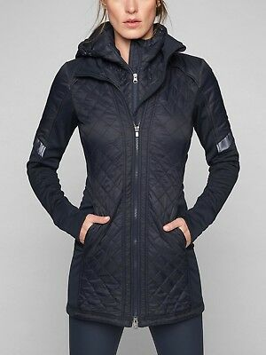 Athleta Rock Springs Cya Jacket, Navy Size S #350337 N0408