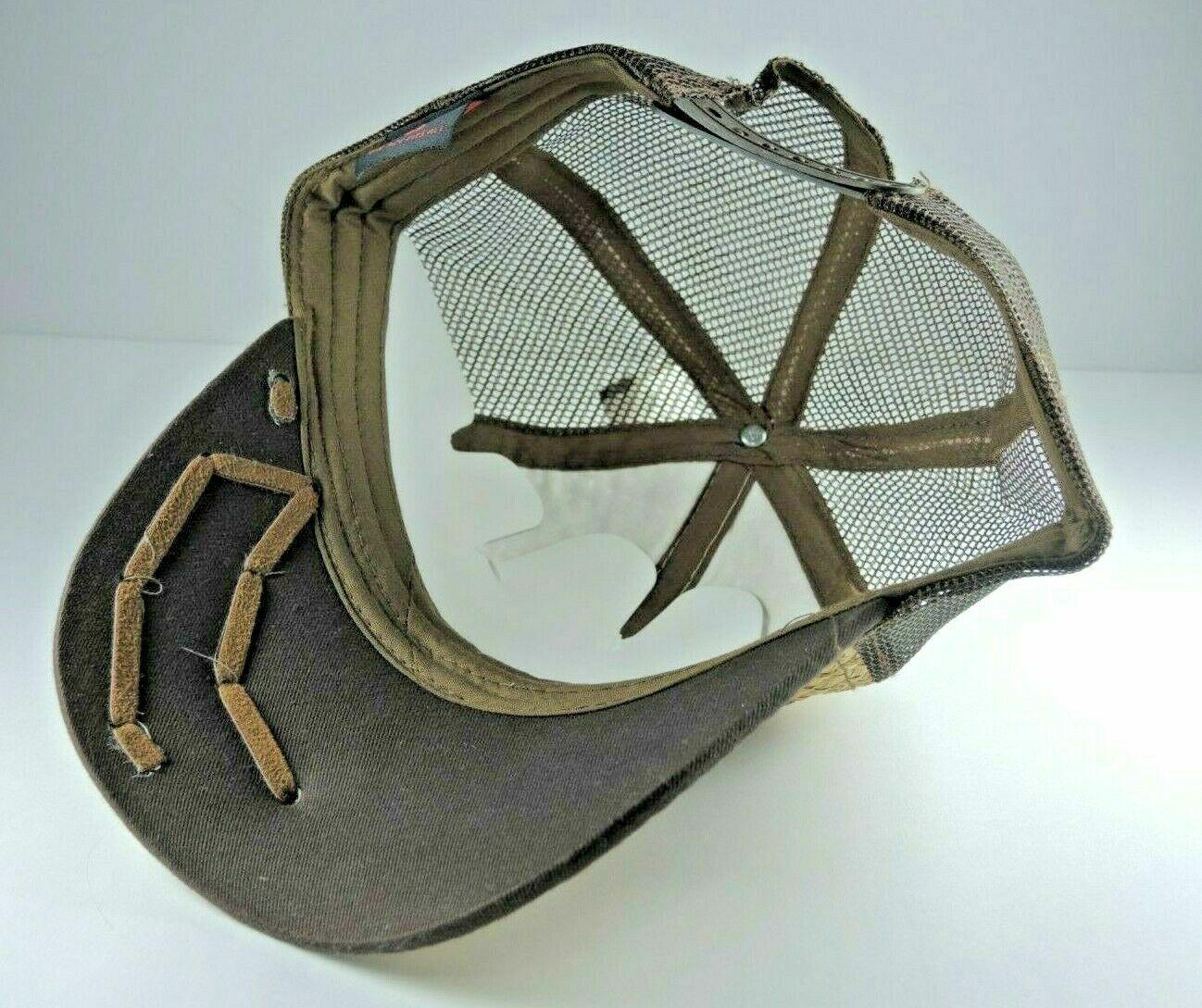 Som-Her Western Straw Eagle Hat Adjustable Strapb… - image 3