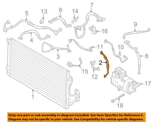 BMW OEM 14-18 i3 A//C AC Condenser//Compressor//Line-Pressure Hose 64509317393
