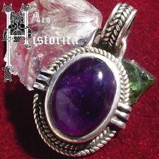 AMETHYST Anhänger ECHT 925 Silber Pendant Lilac