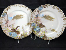 Haviland & co Limoges Antique 1876-1878 Mark 10 &16 Plates Trimmed in Gold Birds