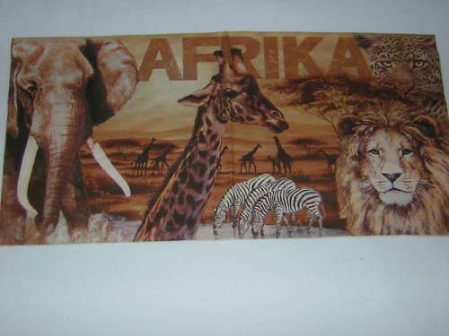 5 stück Servietten AFRIKA sergenti elefanten zebra LÖWE giraffen 1//2 Tiere Schri