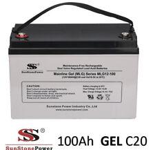 12V 100Ah Gel - Reine Bleigel Batterie Akku- USV Boot Wohnmobil Caravan C20