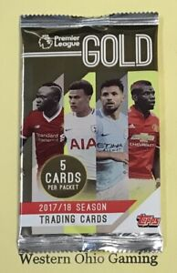 2017-18-Topps-Premiere-League-Gold-Soccer-Pack-NEW