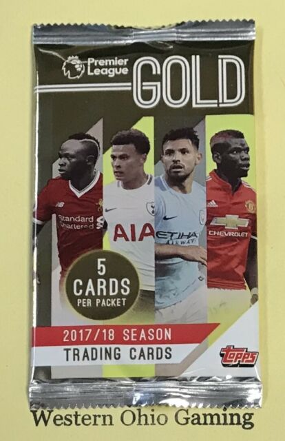 2017/18 Topps Premiere League Gold Soccer Pack NEW