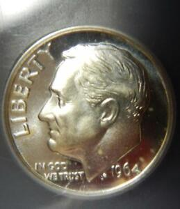1964-Silver-Roosevelt-10c-ICG-PR69-Cameo-Deep-Mirror-Proof-amp-Frosted-Devices