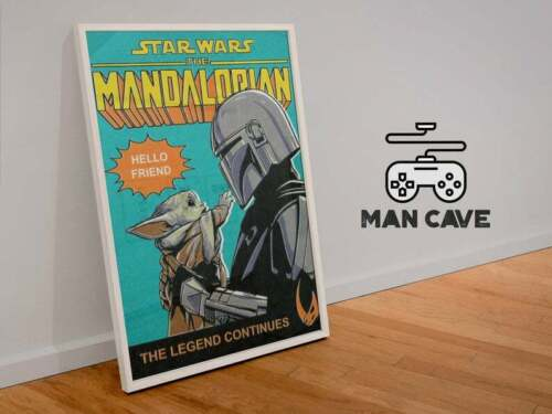 Star Wars The Mandalorian movie Post 2021 Retro Home Decor Art Wall Poster Print