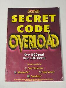 Secret Code Overload by BradyGames Staff (1998, Paperback) PS1 Saturn N64