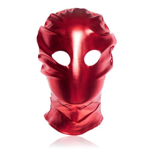 SCHIAVO Open Eye Hood raso Zoppo MASK-Nero o Colore Rosso-Roleplay Costume