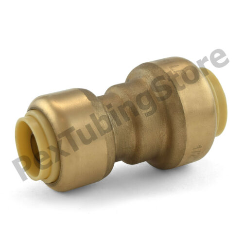 "1//2/"" x 3//8/"" Sharkbite Style Push-Fit Lead-Free Brass Reducing Coupling Fitting"