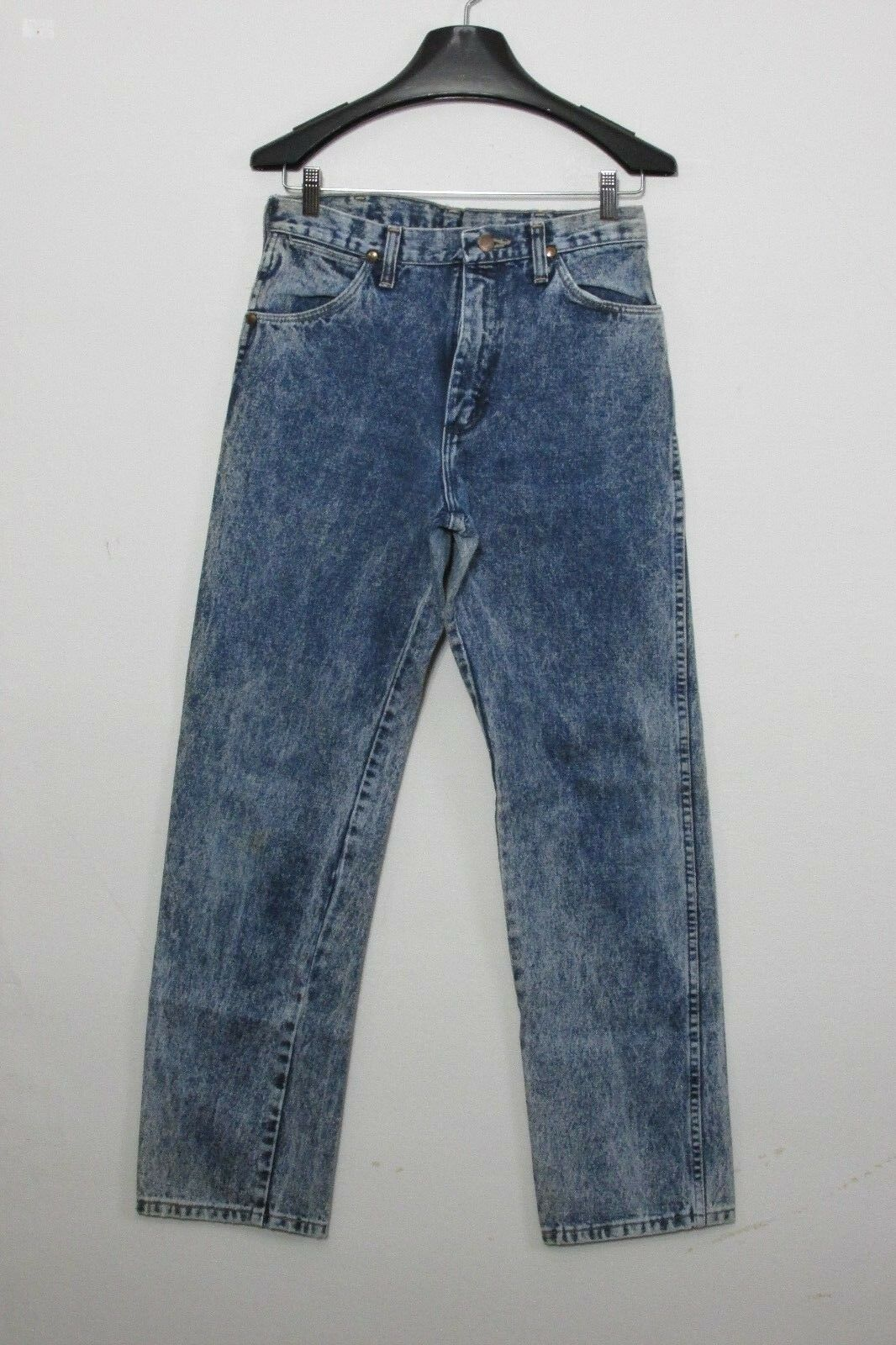 c7889756 Wrangler Jeans Acid Washed 1990s Men's Measured 30x31 Tag-31x34 Fade Inv  F3771