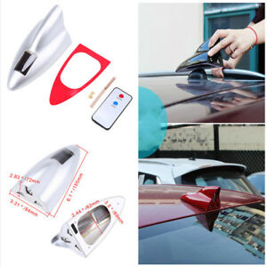 Silver-Solar-Shark-Fin-Radio-Antenna-Aerials-Signal-Remote-Control-for-Car-Roof