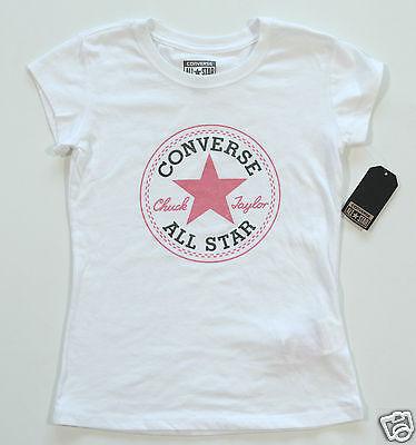 Neu All Star Converse T Shirt TShirt Kids Kinder Mädchen Girls Logo | eBay