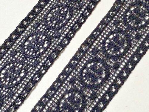 "Beautiful Black Stretch Lace Trim 1.25/""//3.5cm Sewing Clothing Goth laverslace"