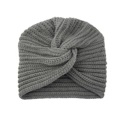 Women Knitted Beanie Hat Warm Winter Knit Turban Cross Twist Headband  Wrap Cap