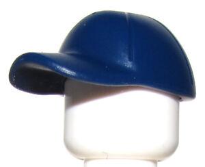 LEGO NEW DARK BLUE MINIFIGURE HEADGEAR CAP HAT PIECE TINY HOLE IN ... 977618c2bd3