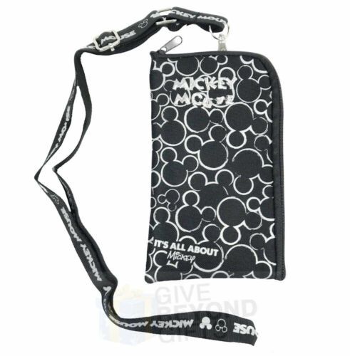 Disney Mickey Mouse Head Logo Lanyard ID Ticket Badge Key Chain Iphone Holder