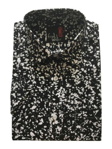 Mens ShortSleeve Retro Aztec Print Summer Regular Big Size Shirts CottonBlend
