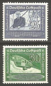 DR-Nazi-3rd-Reich-Rare-WW2-Stamp-Air-Mail-Graff-Zeppelin-Airship-Dirigible-Blimp