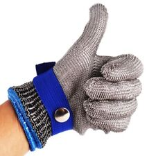 Grade High Safety Cut Proof Stab Resistant Stainless Steel Metal Mesh Glove New