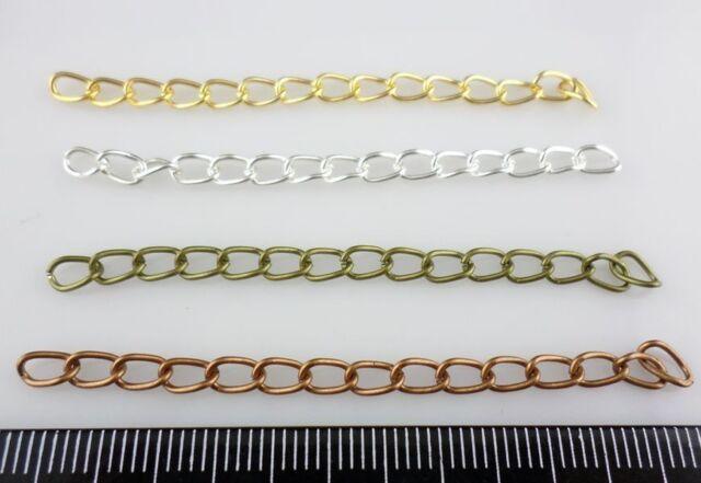 20/60pcs DIY Bracelets Necklace Extend Chains Gold, Silver, Bronze,Copper