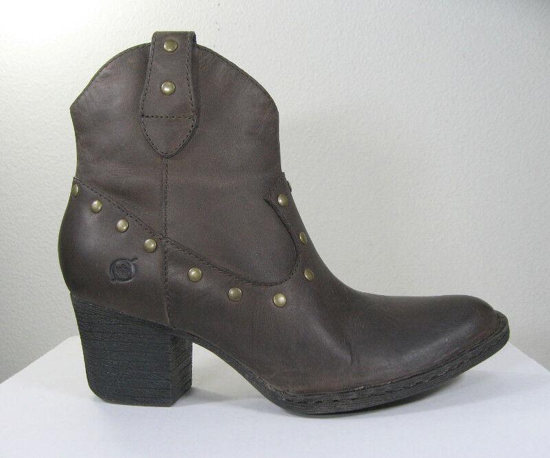 acquista online NEW BORN donna 'Perez' grigio Leather Studs Studs Studs Ankle avvio Dimensione US 7 EU 38 Side zip  nuovo di marca