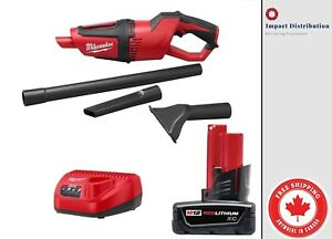 Milwaukee M12 0850-21 Cordless Portable Vacuum Cleaner XC Kit Battery Charger