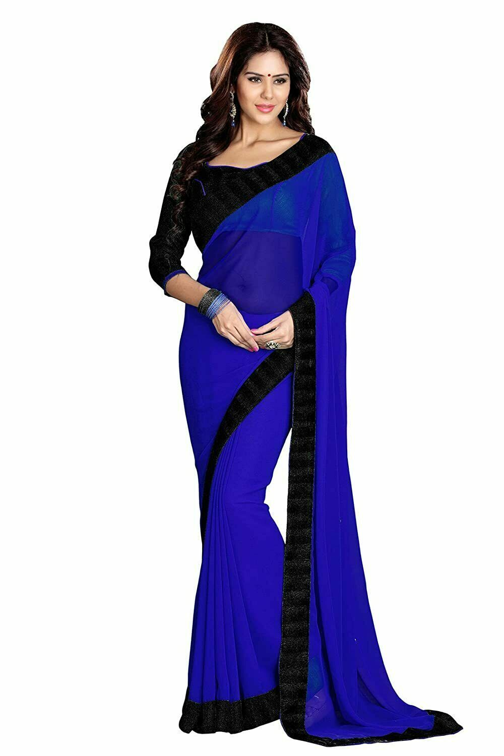 Bollywood Indian Designer Georgette with Blouse Saree Piece
