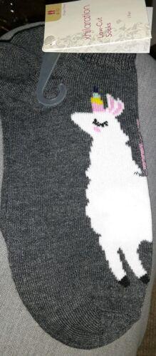 3 Pairs xhilaration Womens Low Cut Socks Size 4-10 Unicorn Llama Whole Sale Lot