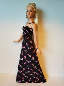 TYLER-Clothes-Tonner-16-034-Flowers-GOWN-amp-JEWELRY-handmade-Fashion-NO-DOLL-d4e