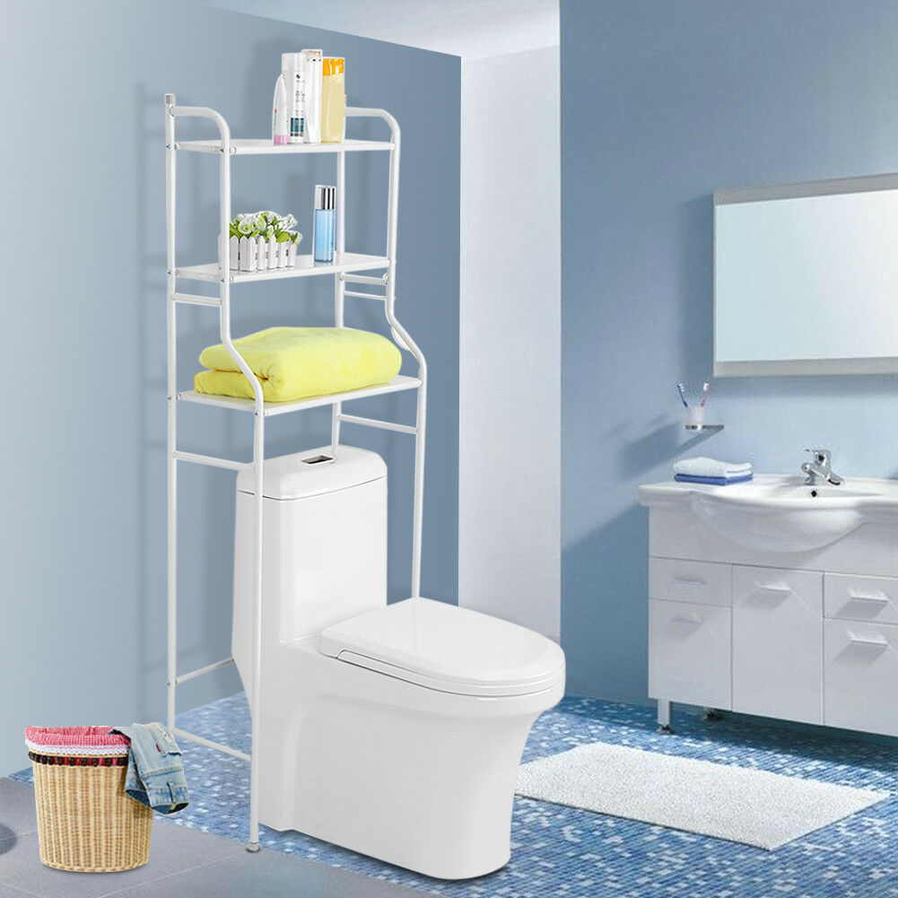 3 Layers Over The Toilet Bathroom Space Saver Towel Storage Rack ...