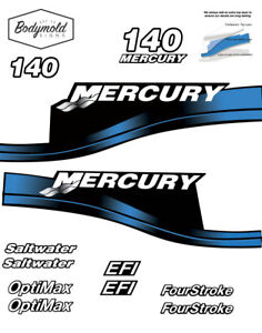 Mercury-140hp-decals-BLUE-EFI-or-Saltwater-Series-and-Four-Stroke