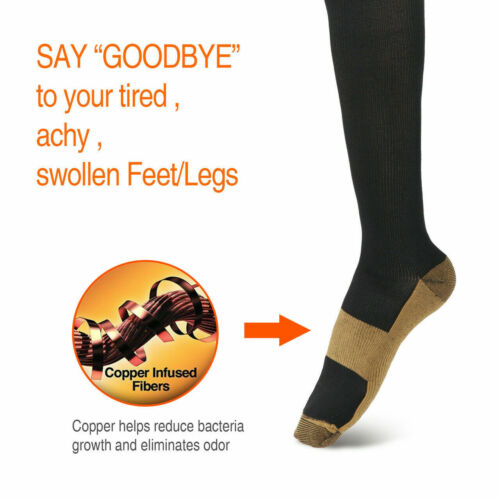 Compression X Socks Knee High 20-30mmHg Graduated Mens Womens S-XXL 3 Pairs