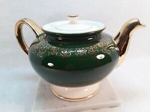 Homer-Laughlin-Lady-Greenbrier-Pattern-Warranted-22k-Gold-Made-In-England