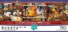 BUFFALO GAMES PANORAMIC JIGSAW PUZZLE THE CATS OF CHARLES WYSOCKI 750 PCS #14038