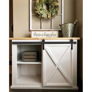 Details About 4 5 6 8ft Mini Small Sliding Barn Door Hardware Kit Cabinet Tv Stand J Shape