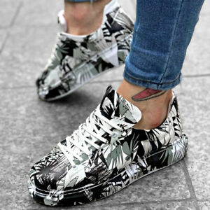 Details about Apollo Mens Colorful Printed Sneakers Alexander Mcqueen Style