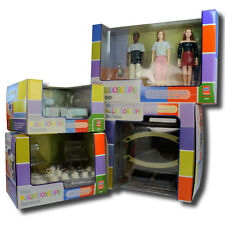 Bozart The Kaleidoscope Doll House Bathroom Dining Kitchen Cat &Kids 1:12 Scale