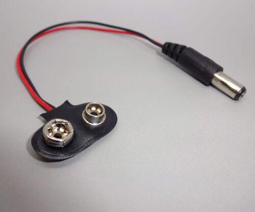 2 Stück Stecker DC Power Buchse auf 9V Batterie Clip Anschluss Kabel  E571